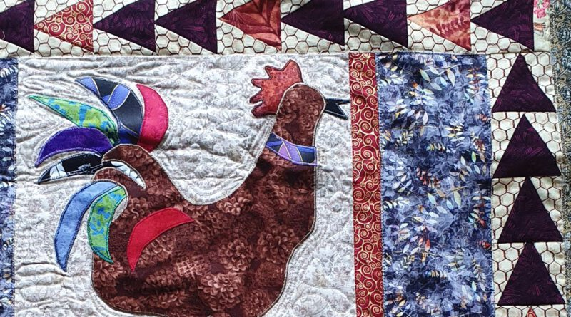 Bunte Quilts bringen Farbe ins Rathaus